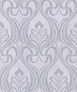 Grandeco gold art nouveau silver wallpaper 113002 for Art nouveau wallpaper uk