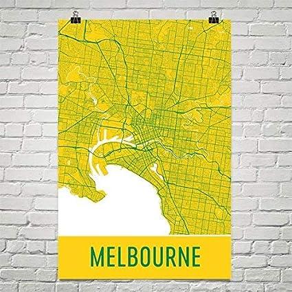 Melbourne Australia City Map.Amazon Com Melbourne Poster Melbourne Art Print Melbourne Wall