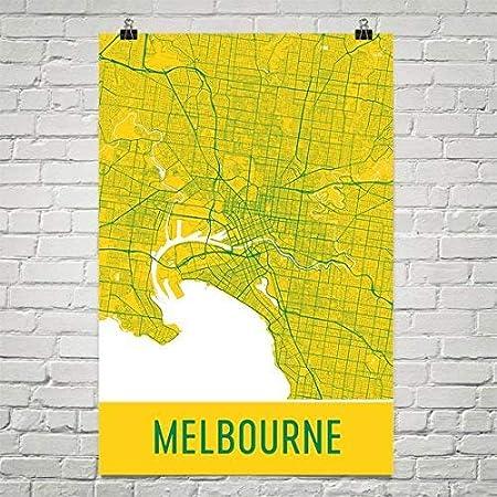 Map Of Australia Melbourne.Melbourne Poster Melbourne Art Print Melbourne Wall Art Melbourne