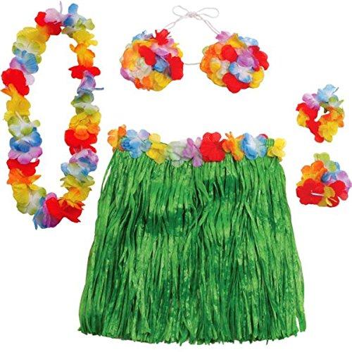 Amscan Hawaiian Summer Luau Party Adult Hula Skirt Kit Supplies , Multicolor, 15 Pieces