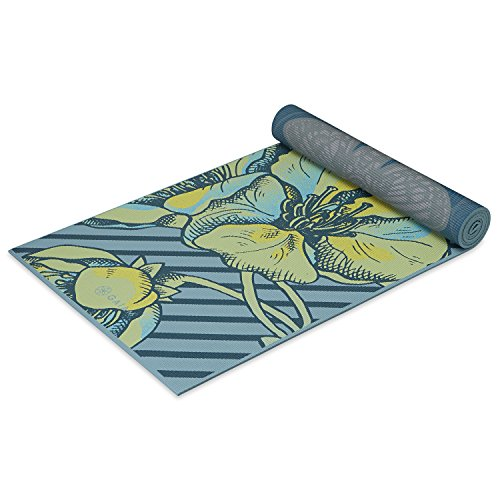 Gaiam Yoga Mat – Premium 6mm Print Reversible Extra Thick Exercise & Fitness Mat for All Types of Yoga, Pilates & Floor Exercises (68″ x 24″ x 6mm Thick)