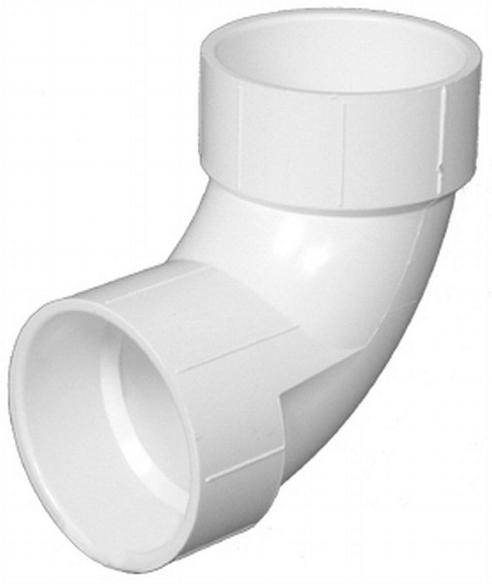 Charlotte Pipe 4 DWV 1//4 Bend Hub X Hub PVC DWV Schedule 40 Drain, Waste and Vent Single Unit
