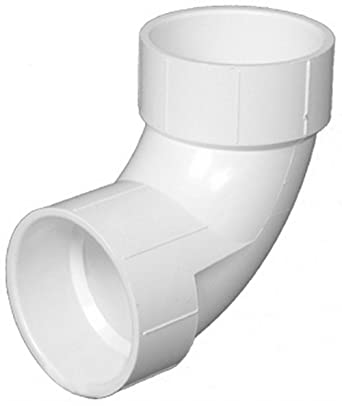 PVC 90 Degree Elbow White Drainage Tube Adapter Connector Plumbing Fittings