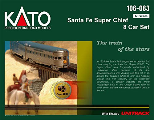 Kato N Scale Santa Fe Super Chief 8 Car Set (2019 Release)