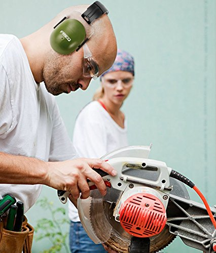 FRiEQ 37 dB NRR Sound Technology Safety Ear Muffs with LRPu Foam for Shooting, Music & Yard Work, Green by FRiEQ (Image #1)