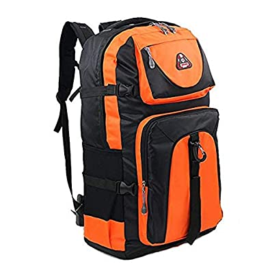 1bcf7227641e バックパック アウトドア 登山 60L 大容量 軽量 通学 旅行 防災 レディース メンズ (オレンジ)