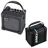 Roland Micro Cube GX Battery Powered Guitar Combo Amp with CB-MCC1B Cover- Black - Bundle