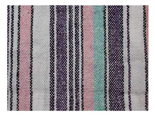 Iguana Jack Premium Striped Woven Baja Hoodie Jacket Jerga Mens Womens (Large, Pink Stripe) -