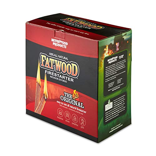 Better Wood Products Fatwood Firestarter Box, 10-Pounds (Starting In Fire Fireplace)