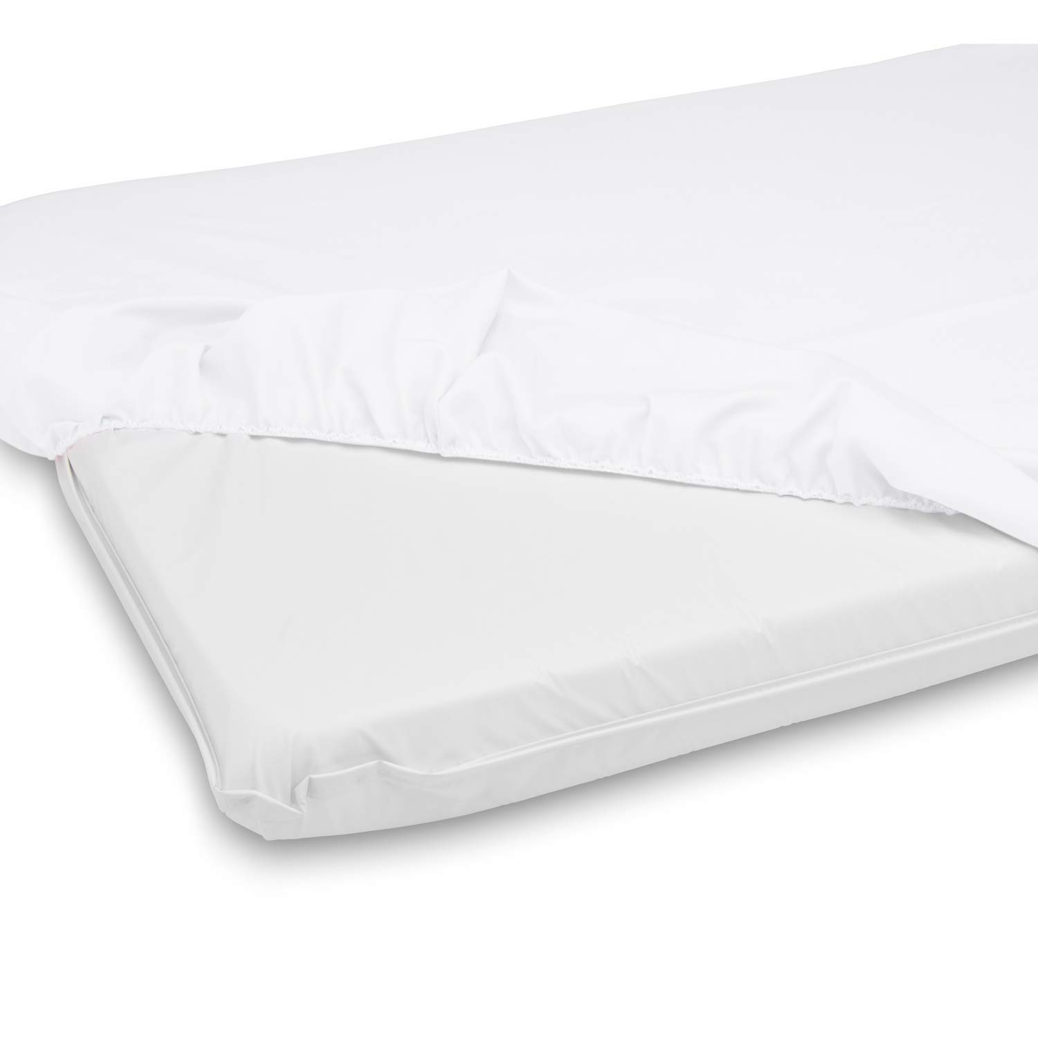 BabyDoll Bedding Cradle Mattress & Sheet Combo, White, 18'' W x 36'' L by BabyDoll Bedding