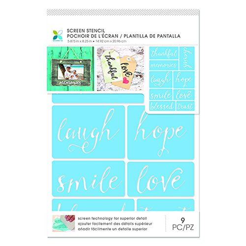 Momenta 30389 Script Words Adhesive Screen Stencil