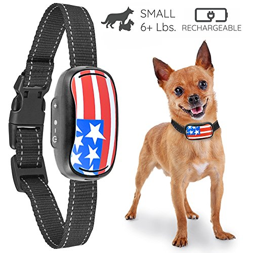 Small Rechargeable Dog Bark Collar For Tiny To Medium Dogs by GoodBoy Waterproof And Vibrating Anti Bark Training Device That Is Smallest & Most Safe On Amazon - No Shock No Spiky Prongs! ( 6+ lbs )