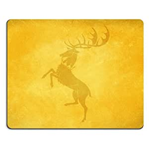 Pattern Yellow Deer Mouse Pads Customized Made to Order Support Ready 9 7/8 Inch (250mm) X 7 7/8 Inch (200mm) X 1/16 Inch (2mm) High Quality Eco Friendly Cloth with Neoprene Rubber Liil Mouse Pad Desktop Mousepad Laptop Mousepads Comfortable Computer Mouse Mat Cute Gaming Mouse_pad