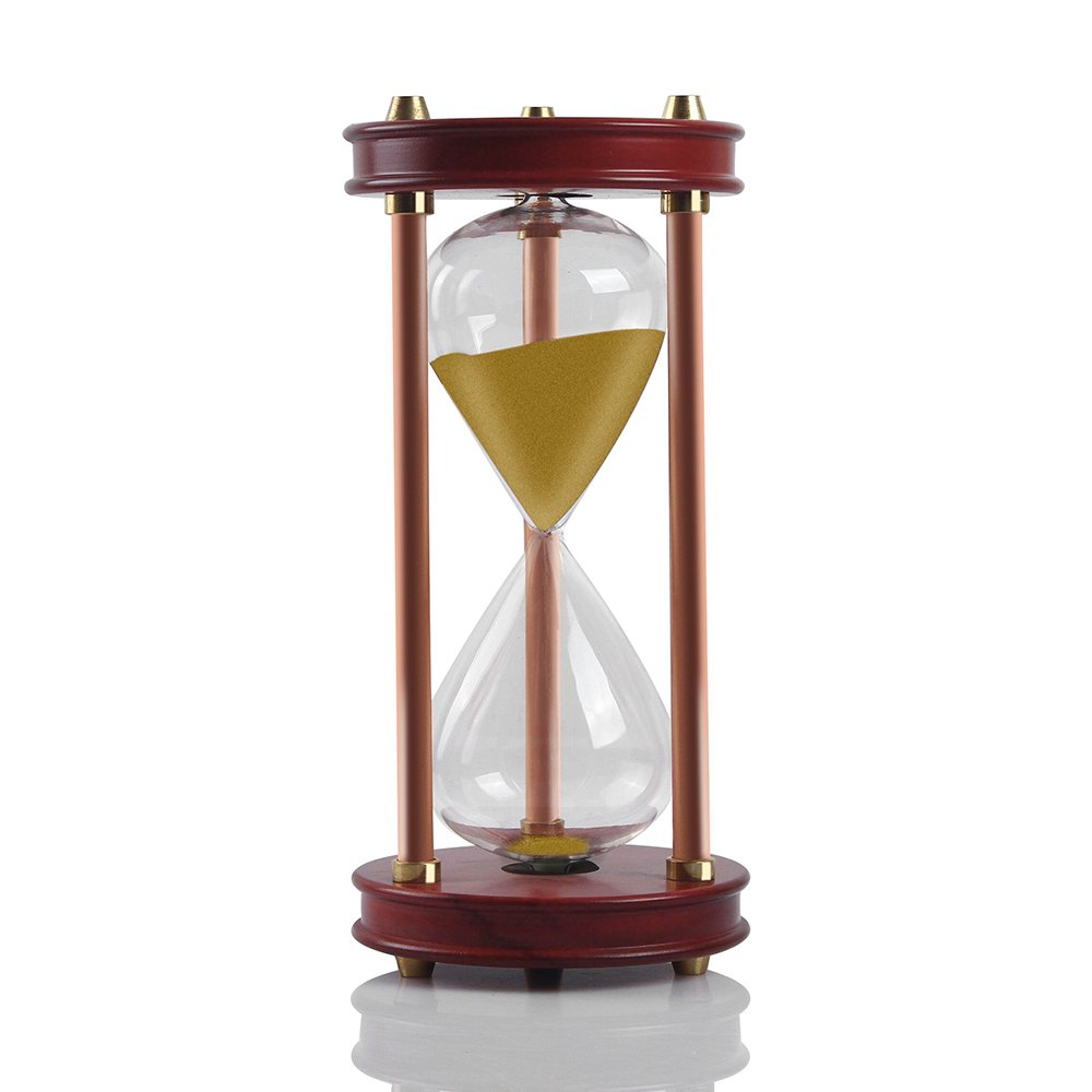Hourglass Sand Timers - SWISSELITE Wooden Hourglass Sand Timer Inspired Glass/Home,Desk,Office Decor