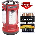Coleman 8d LED Quad Lantern (4 Lights in One)+duracell Coppertop D Batteries 8 Count