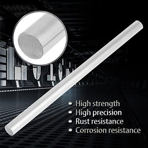200mm Stainless Steel Round Rods,12mm Diameter Metal Round Shaft Rod Bars for DIY RC Car RC Helicopter Airplane