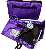 EMI PURPLE Deluxe Professional Aneroid Sphygmomanometer Blood Pressure Monitor Set with Adult Cuff and Carrying Case #217