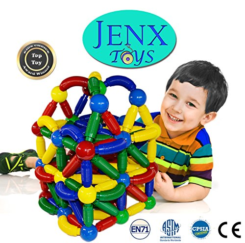 Jenx Toys Jumbo 60 PCS Magnetic Rods and Balls Building