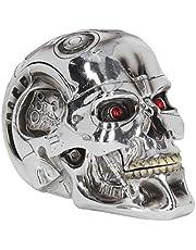 Nemesis Now, T-Terminator-box, 18 cm, zilver, kunsthars, eenheidsmaat