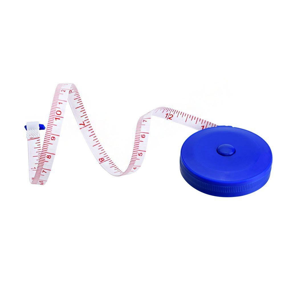 LiPing 60-Inch Random Color Retractable Tape Measure Sewing Dieting Tapeline Ruler Pocket,Body Tailor Sewing Craft Cloth Tape Measure Tiny Tool (5cm x 5cm x 1cm)