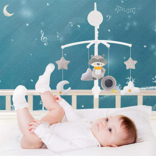 m·kvfa Mobile Musical Cradle Baby, 360 ° Rotatable Baby Crib Holder Toy, Baby Bed Bell Hanging Crib Mobile Gift Toy for Newborn