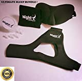 Premium Upgraded Anti Snoring Chin Strap and Nose Vents with Free Bonus Silk Eye Mask - The Ultimate Anti Snore Solution for Men, Women & Kids- Adjustable Sleep Aid Bundle