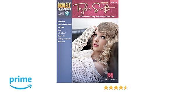 Amazon com: Taylor Swift: Ukulele Play-Along Volume 23 (Hal