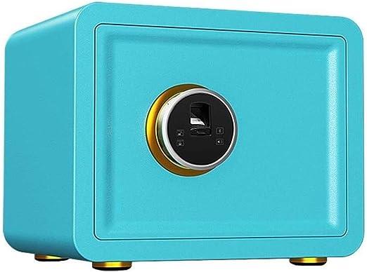 QZBXG Mini Invisible Caja Fuerte, Huellas Dactilares contraseña antirrobo de Seguridad del Ministerio del Interior (Color : Blue): Amazon.es: Hogar