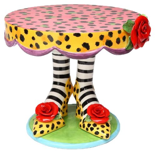 this 10inch crafted fine hand painted ceramic cake stand it can be used to serve 9u201d cake or it can be used also as a beautiful centerpiece for any