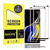 Galaxy Note 9 Screen Protector, 3D Full Screen Coverage Curved Edge [Bubble-Free] [Anti-Scratch] [Case-Friendly] Galaxy Note 9 Tempered Glass Screen Protector Compatible Samsung Galaxy Note 9 [2 Pack]