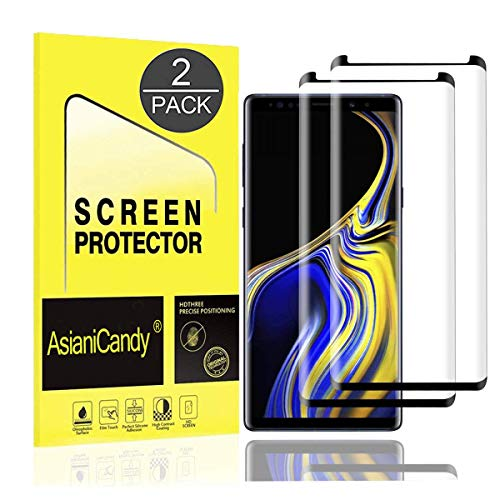Galaxy Note 9 Screen Protector, 3D Full Screen Coverage Curved Edge [Bubble-Free] [Anti-Scratch] [Case-Friendly] Galaxy Note 9 Tempered Glass Screen Protector Compatible Samsung Galaxy Note 9 [2 Pack] by AsianiCandy