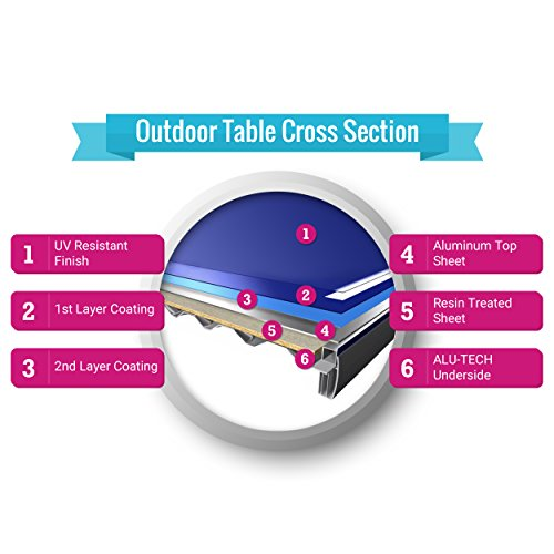 Kettler Outdoor Table Tennis Table - Axos 1 with Outdoor Accessory Bundle by Kettler (Image #4)