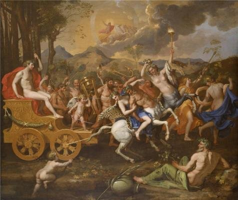 Oil Painting 'Nicolas Poussin,The Triumph Of Bacchus,1635-1636' Printing On High Quality Polyster Canvas , 20x24 Inch / 51x60 Cm ,the Best Foyer Artwork And Home Artwork And Gifts Is This (Bacchus Canvas)