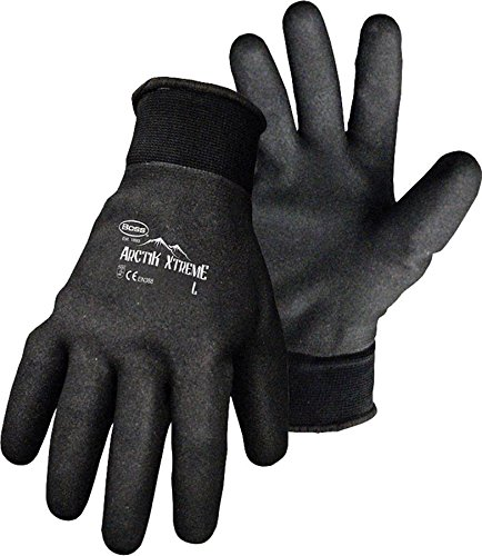 Boss 7841B Artik Xtreme Fully Coated Nitrile Palm Glove, Womens Small, Black