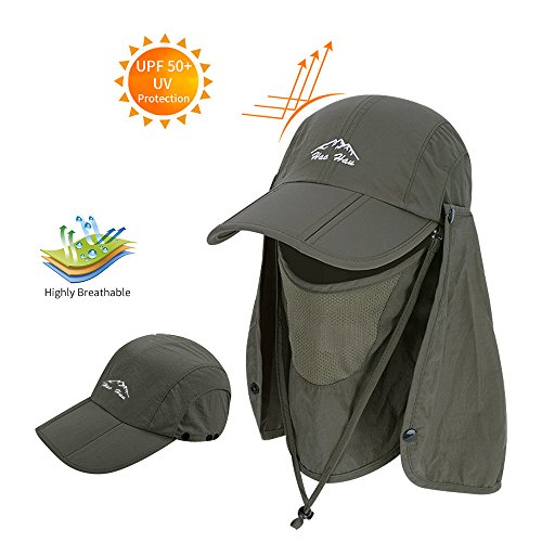 BAVST Men Women Summer Hat Sun Protection Waterproof Baseball Cap (Army) -