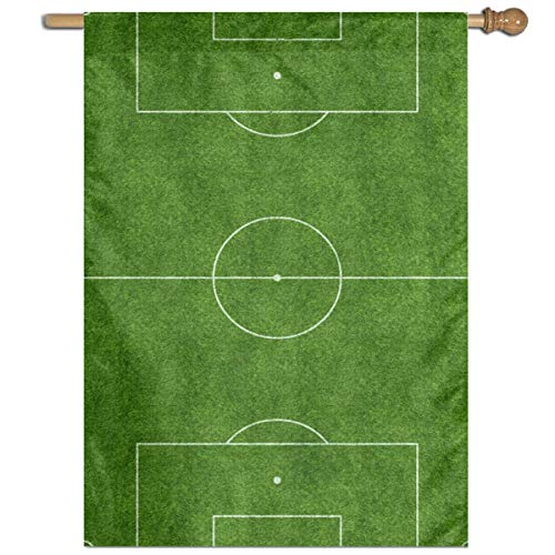 Longnankejilifeaa Garden Flag Green Soccer Sports Field House Banner Polyester Home Decor Retro Outdoor Flags for Sports Game Family Party Celebrate Election 27