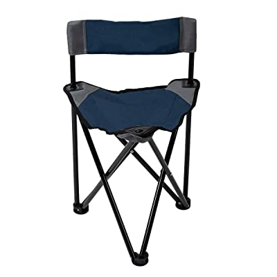 Pacific Pass Folding Tripod Chair Lightweight Portable Camping Chair Easy Carried Sports Camp Chair with Carry Bag for Camping, Fishing, Hiking, Outdoor, Hunting: Sports & Outdoors