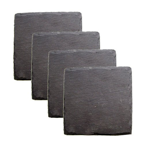 Country Home Square Slate Coasters by Twine - (Set of 4)