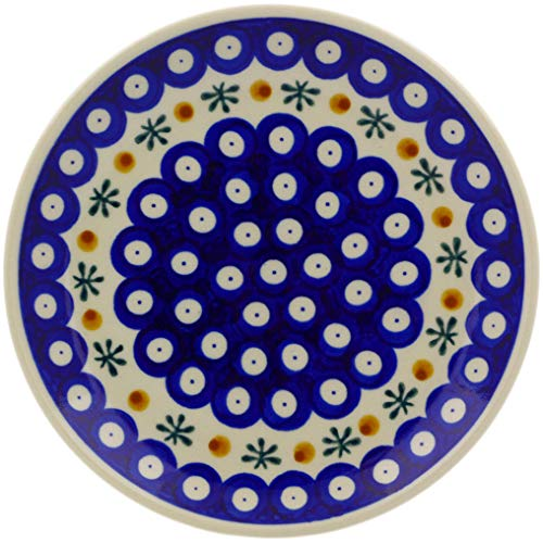 Polish Pottery Blue Art - Polish Pottery Dessert Plate 7-inch (Single)