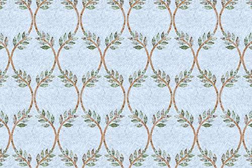 (MEC - Venezia Maraic Custom Handmade Modular Marble Mosaic Tiles Wall Backsplash Bath Home Decor Motif Floor Art Rug (can be made with glass mosaic))