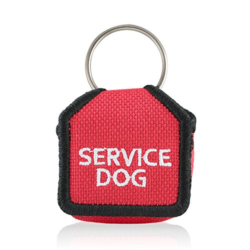 The Tag Bag - Dog Tag Silencer Service Dog Red