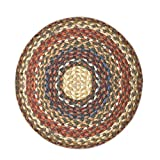 Earth Rugs CH-300 Round Chair Pad, 15.5'', Honey/Vanilla/Ginger