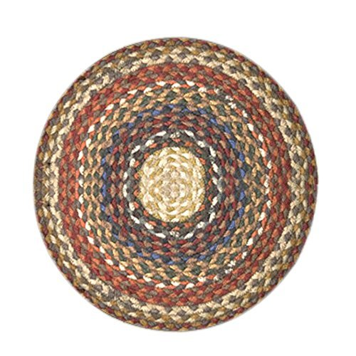 Earth Rugs CH-300 Round Chair Pad, 15.5'', Honey/Vanilla/Ginger by Earth Rugs