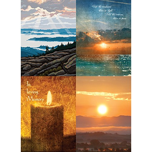 Memory Greeting Cards - Tree-Free Greetings Loving Memories of Light Sympathy Card Assortment, 5 x 7 Inches, 8 Cards and Envelopes per Set (GA31526)