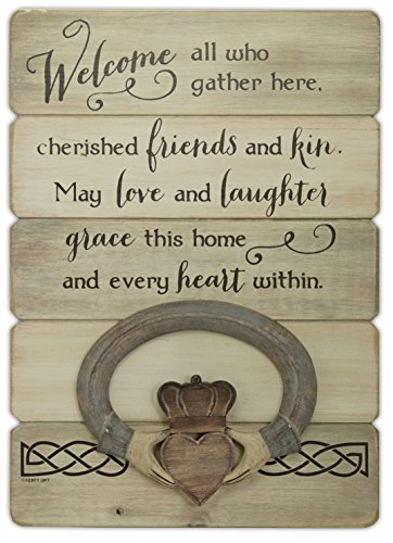 (Abbey Gift Irish Welcome Claddagh Wall Plaque )