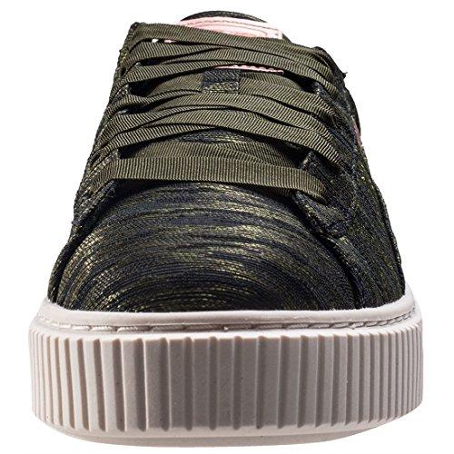 Puma Basket Platform Vr, Zapatillas Para Mujer Verde (Olive Night-olive Night)
