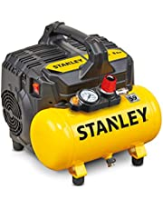 Stanley B2BE104STN703 100/8/6 Silent Air Compressor DST 100/8/6SI, 750 W, 230 V, Giallo