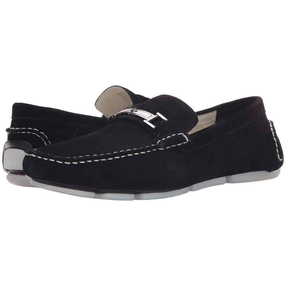 [カルバンクライン] メンズ シューズ靴 ローファー Magnus Black Calf Suede サイズ9xM [並行輸入品]   B076JZH9NX