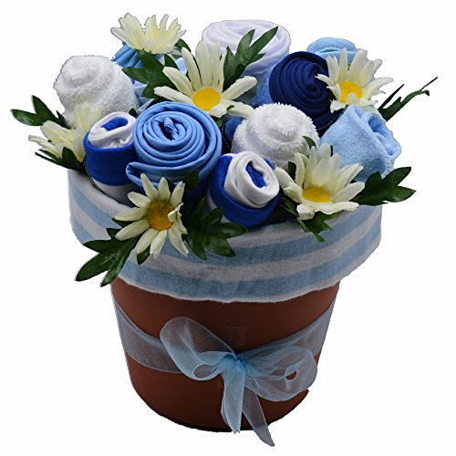 Beautiful Baby Flower Bouquet (Nikki's Deluxe New Baby Blossom Clothing Bouquet (Blue))