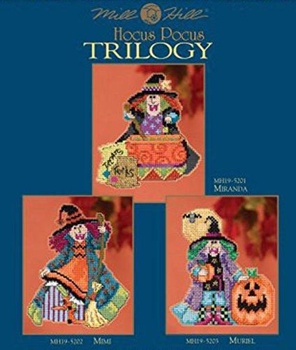 (Hocus Pocus Trilogy Cross Stitch Halloween Ornament Kits Mill Hill 2015 (Set of 3: Mimi, Miranda,)
